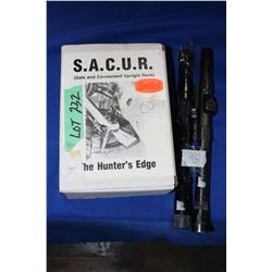 Hunters Edge Gun Rack & 2 Scopes