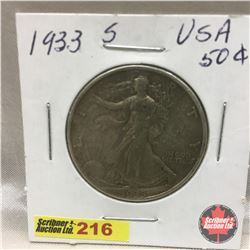 US Fifty Cent 1933S