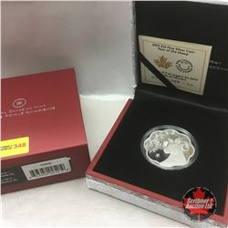 RCM 2015 Lunar Lotus : Year of the Sheep $15 Fine Silver Coin