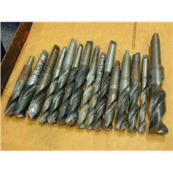 MISCELLANEOUS LOT OF MORSE TAPER DRILL BITS - SEE PICS FOR SIZES!!