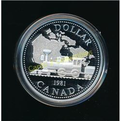 RCM Canadian 1981 Silver Proof $1 Coin With Case