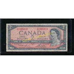 1954 Canadian $2 Bank Note VG1325913