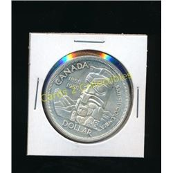 1858-1958 Canadian BC Totem Pole Silver $1 Coin