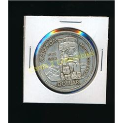1858-1958 Canadian Silver BC Totem $1 Coin