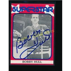 Bobby Hull Superstar Signed Hockey Card