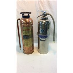 2 Vintage Fire Extinguishers
