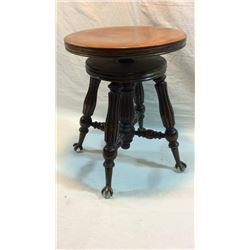 Antique Gerts Ball In Claw Piano Stool