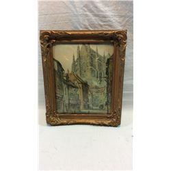 Antique Bubble Frame Picture
