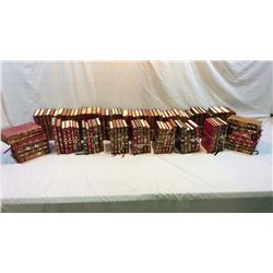 Library Collection Of 101 Leather Bound Books