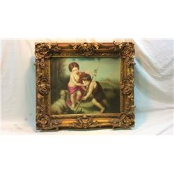 Oil Painting On Canvas In Nice Molded Frame