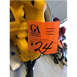 "1 DeWalt Electric Circular 7 1/4"" Saw"