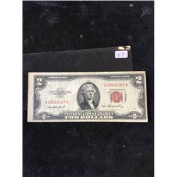 1953 USA $2 NOTE.RED SEAL