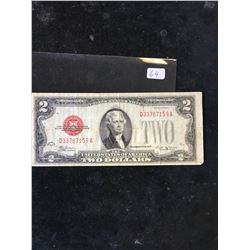 1928 E USA $2 NOTE.RED SEAL