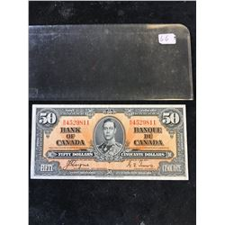 1937 BANK OF CANADA $50 NOTE