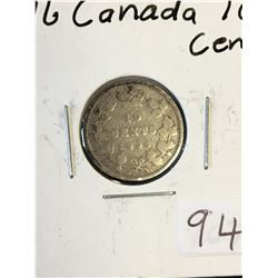 1896 CANADA 10 CENTS