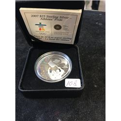 2007 CANADA $25 STERLING SILVER-ATHLETES PRIDE OLYMPIC COIN