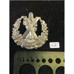 WWII QUEENS OWN CAMERON HIGHLANDERS OF OF CANADA.CAP BADGE