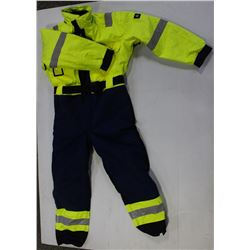 SIZE: 50 HI-VIZ WATERPROOF SAFETY COVERALL-NEW