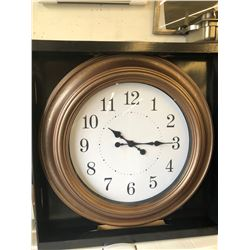 "A TO Z 24"" Brown Clock"