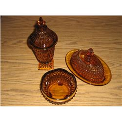 GOLD GLASS DISHES