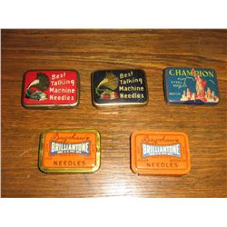 COLLECTION OF PHONOGRAPH NEEDLE TINS