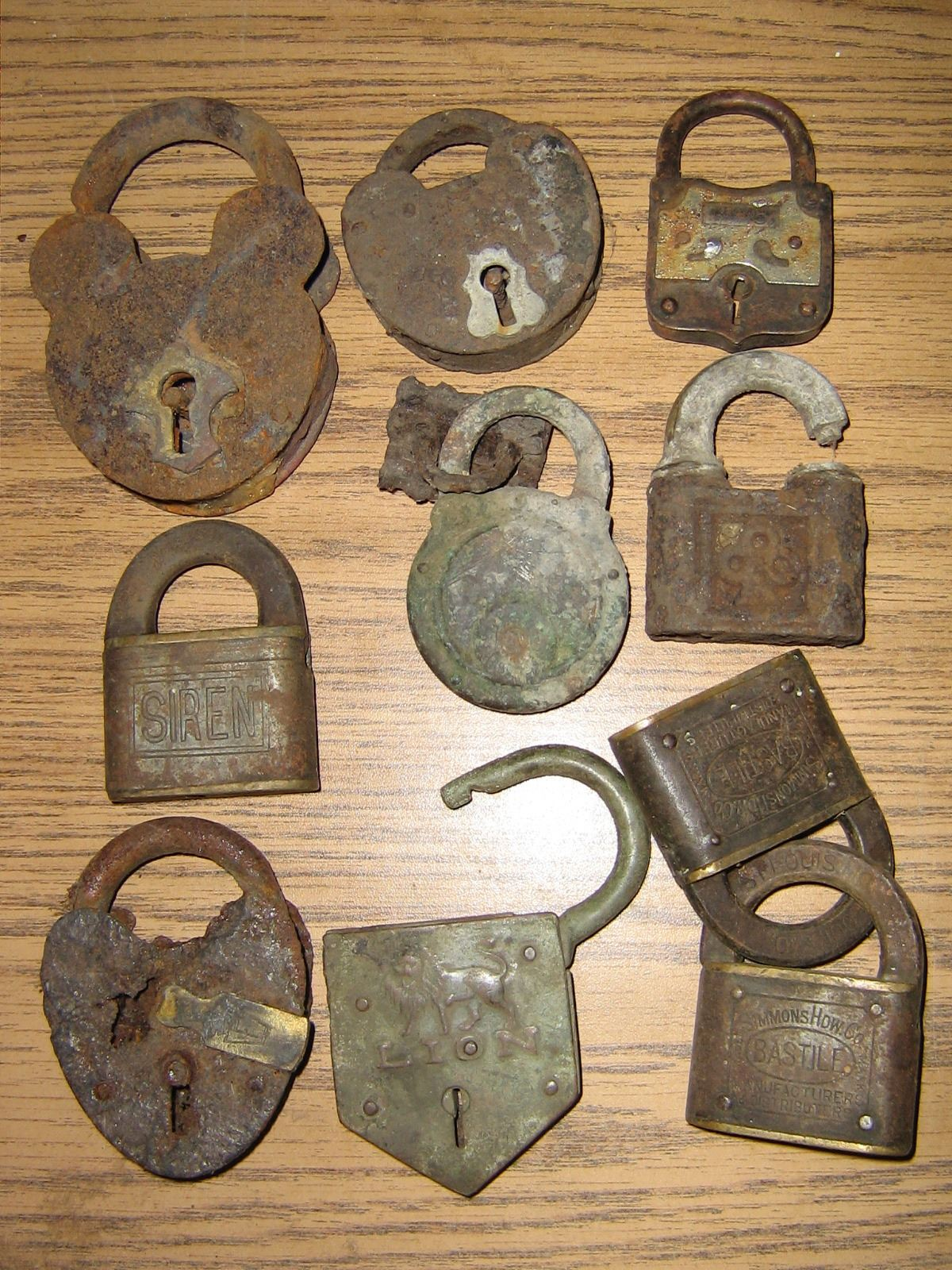 collection old locks
