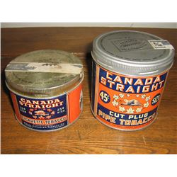 2 CANADA STRAIGHT TINS