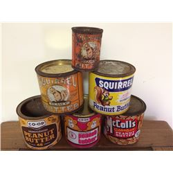 COLLECTION OF PEANUT BUTTER TINS