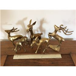 BRASS DEER ORNAMENTS