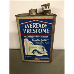 EVERYREADY PRESTONE TIN, 1940s