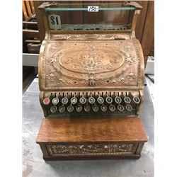 SOLID BRASS CASH REGISTER, NATIONAL #364