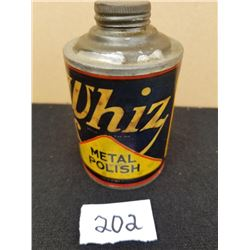 WHIZ METAL POLISH CONE TOP TIN ½ PINT