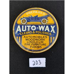 AUTO WAX POLISH TIN - CANADIAN