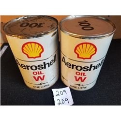 PAIR OF AEROSHELL LITRES FULL