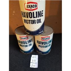 3 TEXAS HAVOLINE QUARTS - FULL