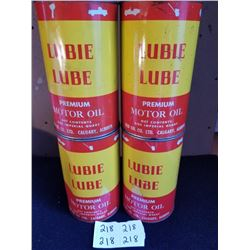 4 LUBIE LUBE S.A.E. MOTOR OIL QUARTS FULL - CALGARY