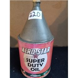 STAR SUPER DUTY OIL CONE TOP TIN QUART - GREAT GRAPHICS