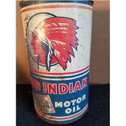 RED INDIAN AVIATION MOTOR OIL QUART - NO TOP