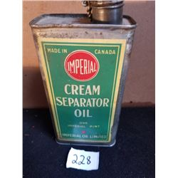 IMPERIAL RED DOT CREAM SEPARATOR OIL - 1 PINT
