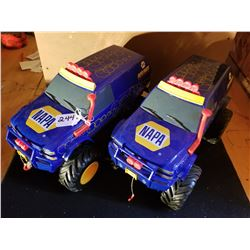 PAIR OF NAPA MONSTER TRUCKS - 14""