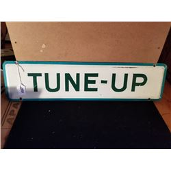 "ORIGINAL TUNE UP TIN SIGN FROM SERVICE STATION 24""X6"""