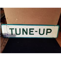 "ORGINAL TUNE UP TIN SIGN FROM SERVICE STATION 24""X6"""