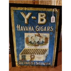 Y-B CIGARS TIN SIGN ORIGINAL