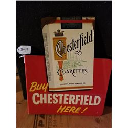 CHESTERFIELD DIE-CUT CIGARETTE FLANGE SIGN