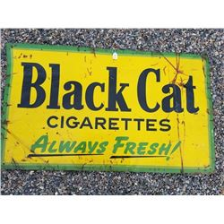BLACK CAT CIGARETTE TIN SIGN