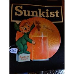 SUNKIST ORANGE DOUBLE SIDED HANGING SIGN