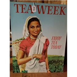 GEN. STORE TEA WEEK CARDBOARD SIGN