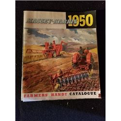 1950 MASSEY HARRIS FARMER'S CATALOGUE, EXCELLENT