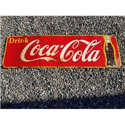 "1957 DATED COCA COLA METAL SIGN 57""X17"""