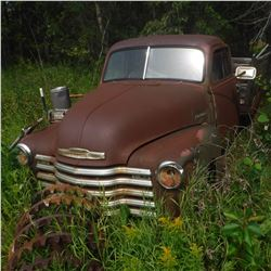 1949, 50, 51? CHEV 1 TON, NOW WHEELS, WOOD BOX